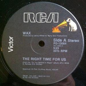 Single Cover Wax - The Right Time For Us