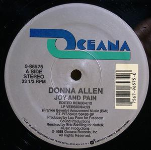 Single Cover Donna - Joy And Pain Allen