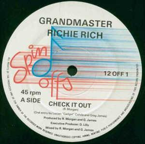 Single Cover Grandmaster Richie Rich - Check It Out