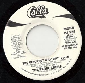 Single Cover The - The Quickest Way Out Persuaders