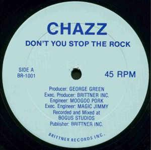 Single Cover Chazz - Don't You Stop The Rock