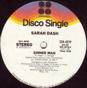 Single Cover Sarah - Sinner Man Dash