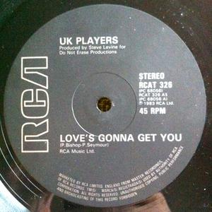 Single Cover Uk Players - Love's Gonna Get You