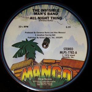 Single Cover Invisible Man's Band - All Night Thing