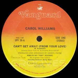 Single Cover Carol - Can't Get Away Williams
