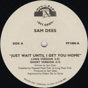 Single Cover Sam - Just Wait Until I Get You Home Dees
