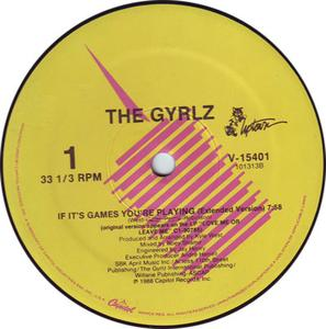 Single Cover The - If It's Games You're Playing Gyrlz