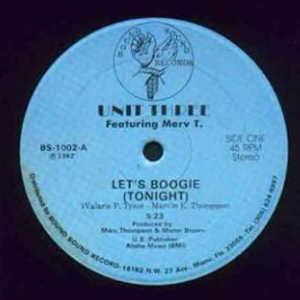 Single Cover Unit Three - Let's Boogie Tonight