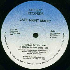 Single Cover Late Night Magic - Scream Baybee