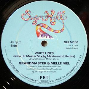 Single Cover Grandmaster - White Lines (new Uk Mastermix) Melle Mel