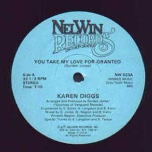 Single Cover Karen - You Take My Love For Granted Diggs