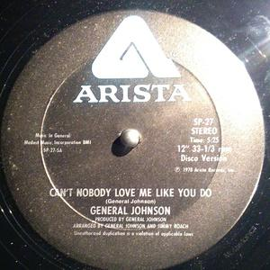 Single Cover General - Can't Nobody Love Me Like You Do Johnson
