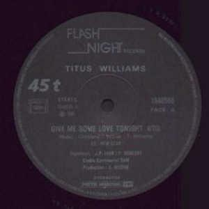 Single Cover Titus - Give Me Some Love Tonight Williams