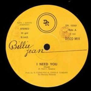 Single Cover Billie - I Need You Jean