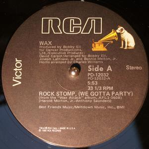 Single Cover Wax - Rock Stomp (we Gotta Party)