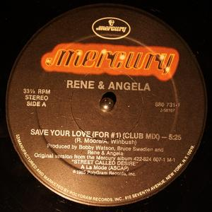 Single Cover René And Angela - Save Your Love (for #1)