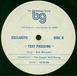 Single Cover Sugar Hill Groove Sugarhill Gang - 8th Wonder