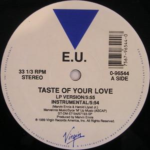 Single Cover E.u. - Taste Of Your Love