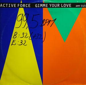 Single Cover Active Force - Give Me Your Love