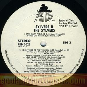 Album Sylvers The Sylvers Ii Pride Records Prd