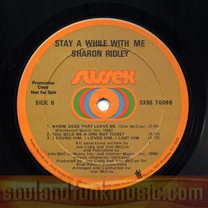 Ms (sharon) Ridley - Stay A While With Me