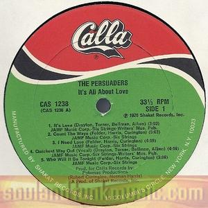 The Persuaders - It's All About Love