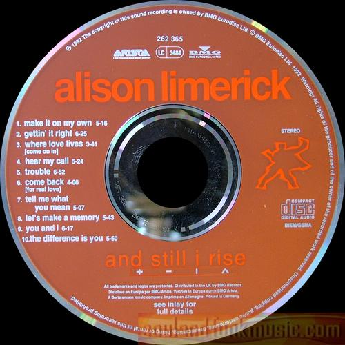 Alison Limerick - And Still I Rise