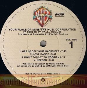 The Hues Corporation - Your Place Or Mine